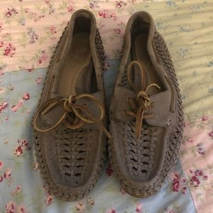 Frye Quincy Woven Boat Shoes Moccasins 6.5M